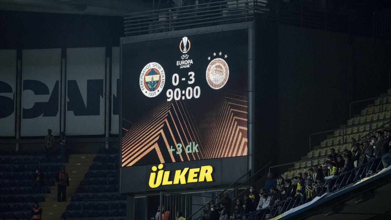 Fenerbahçe, Olympiakos'a 3-0 yenildi
