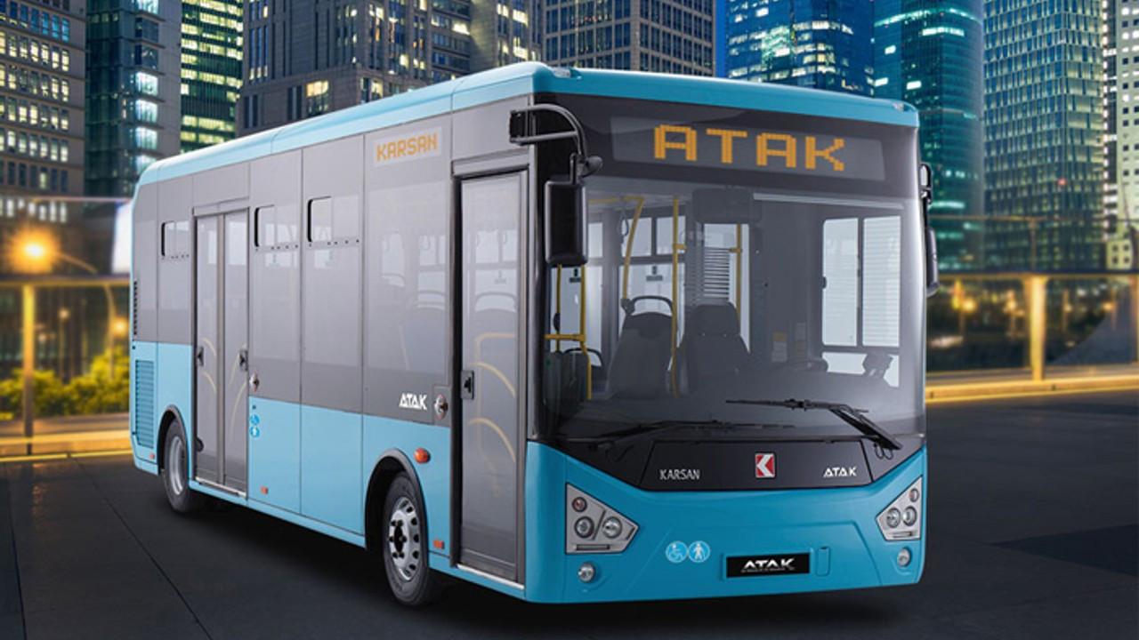 Karsan'dan Mersin'e 56 adet dizel Atak otobüsü