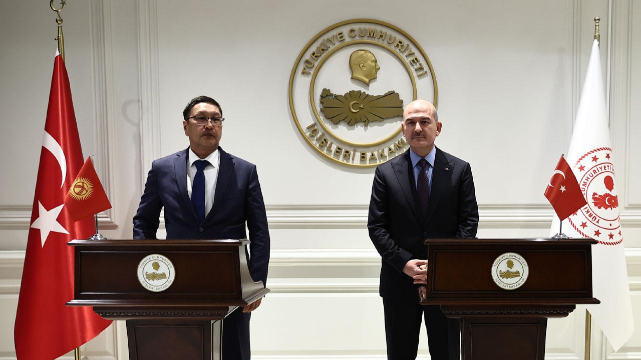 Soylu, Kırgızistan Acil Durumlar Bakanı Azikeev ile görüştü