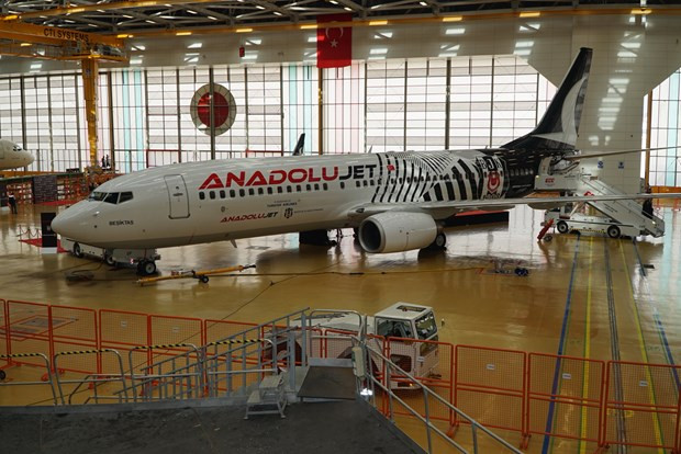 Beşiktaş'ın uçağı oldu