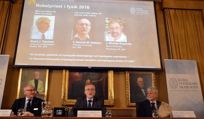 Nobel Fizik Ödülü 3 bilim adamına verildi