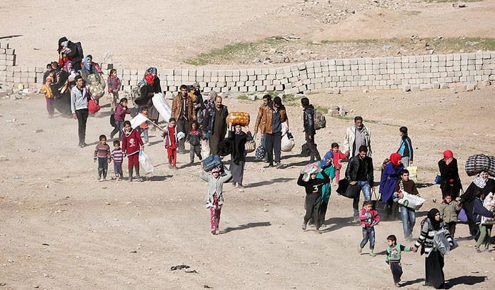 Musul'dan 48 saatte 7 bin sivil tahliye edildi