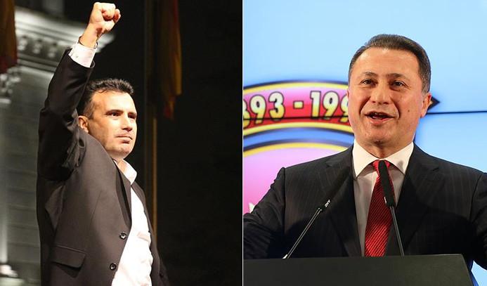 Makedonya'da iki lider de 'zafer' ilan etti