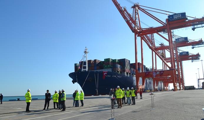 Mersin Limanı'nda 650 milyon liralık Hub Terminali açıldı