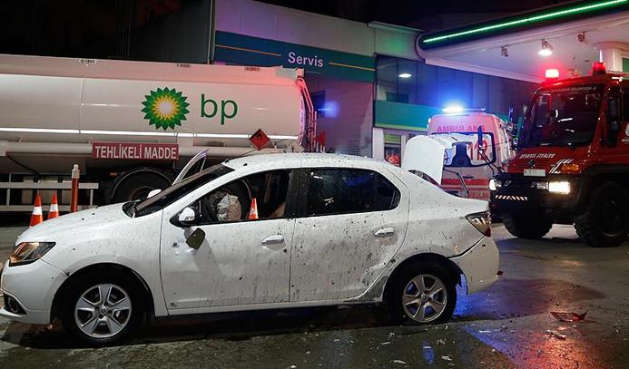 Otomobile el yapımı patlayıcı ile saldırı