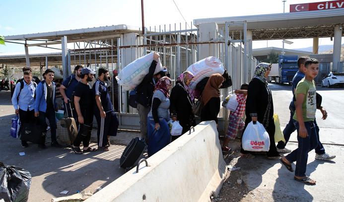 Sınır kapısında Kurban Bayramı yoğunluğu