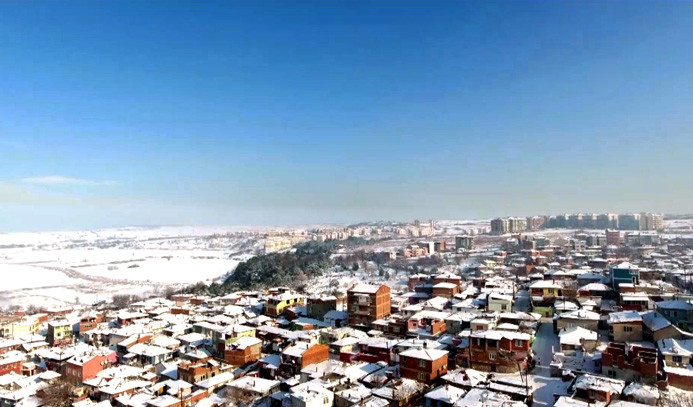 Havadan kar manzaraları
