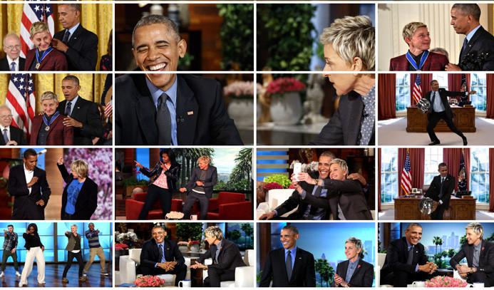Ellen'dan Obama'ya teşekkür videosu
