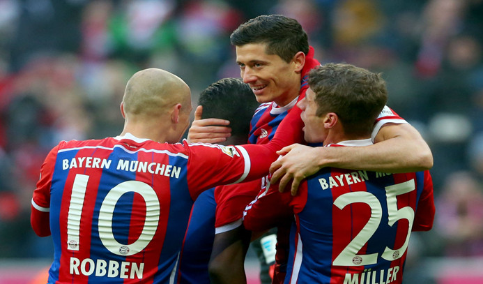 Bayern Münih 8 golle kazandı