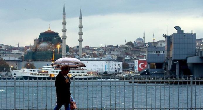 İstanbul'da kuvvetli sağanak uyarısı