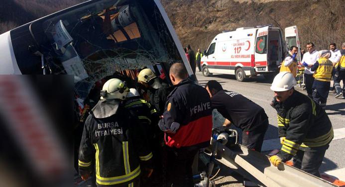 Bursa'da otobüs devrildi: 7 ölü