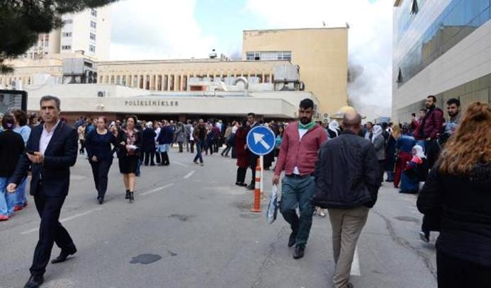 Dicle Üniversitesi Hastanesinde yangın çıktı