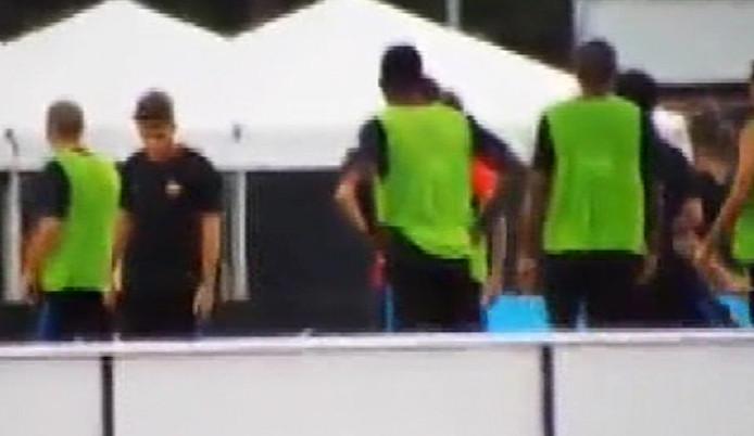 Neymar ve Nelson Semedo antrenmanda kavga etti