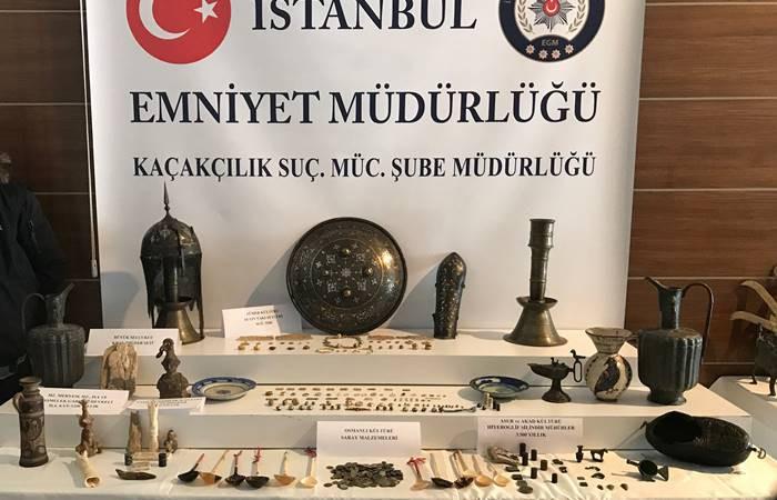 İstanbul'da 242 parça tarihi eser ele geçirildi