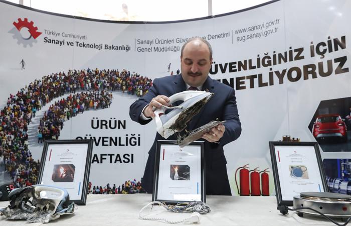 Sanayi ve Teknoloji Bakanı Varank: 178 güvensiz ürün piyasadan toplatıldı