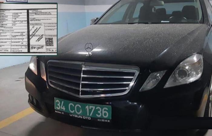 Suudi konsolosluğuna ait diplomatik plakalı araç otoparkta bulundu