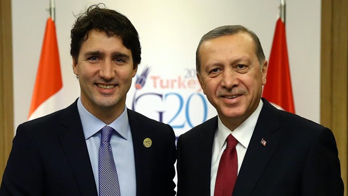 Erdoğan, Kanada Başbakanı Trudeau ile görüştü