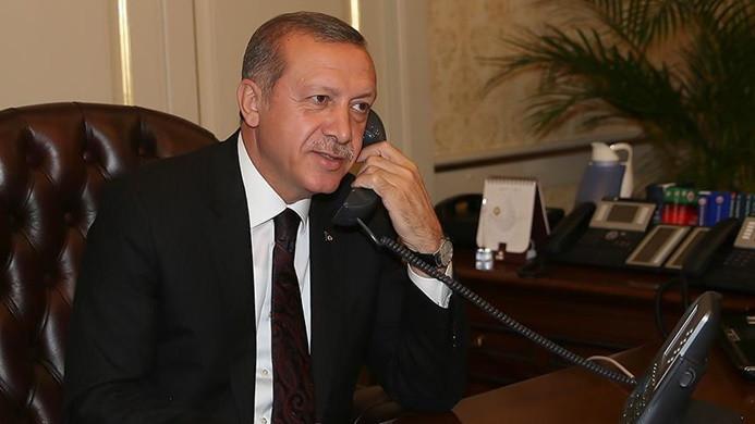 Cumhurbaşkanı Erdoğan, Salih'i tebrik etti