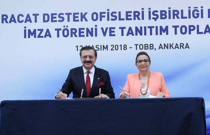 """""""İhracat seferberliği"""" için imzalar atıldı"""
