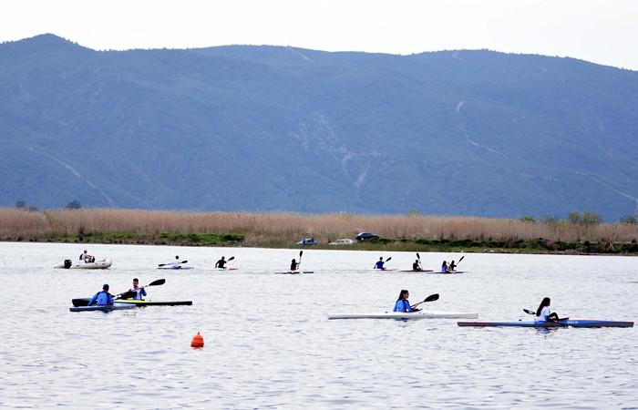 Köyceğiz Gölü su sporlarının merkezi oldu