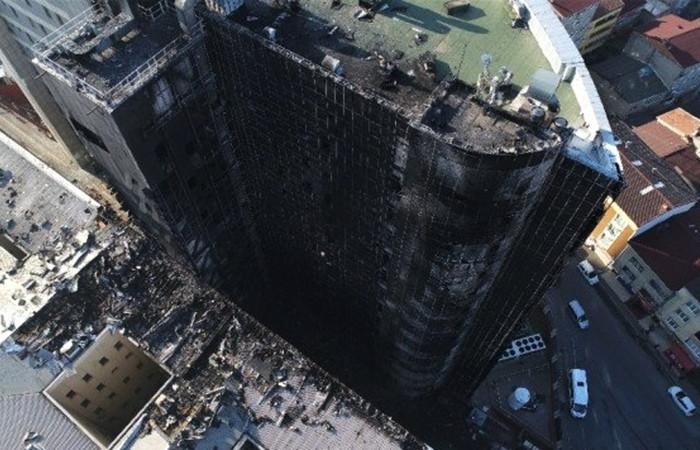 Binada yanıcı malzemeler kullanılmış
