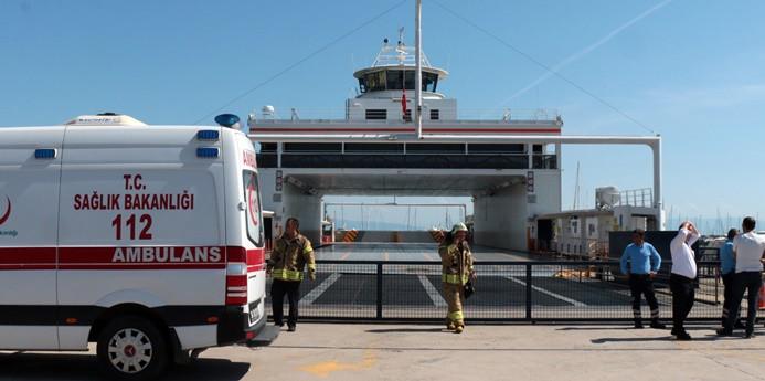 Feribot iskeleye çarptı, 6 yolcu yaralandı