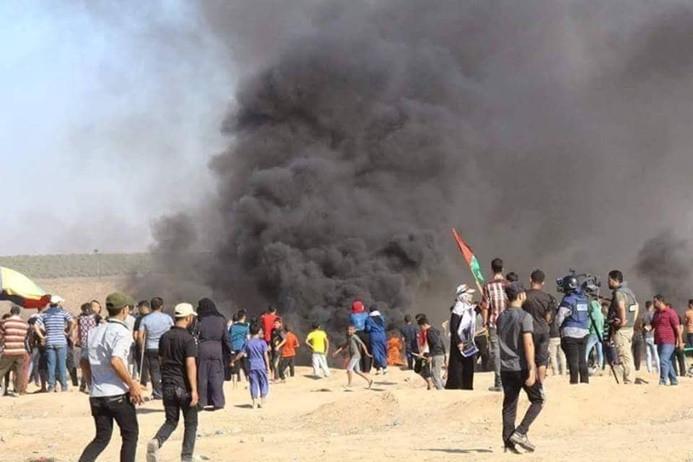 Gazze sınırında 2 Filistinli hayatını kaybetti