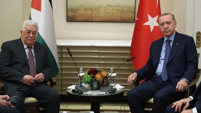 Cumhurbaşkanı Erdoğan Abbas ile görüştü