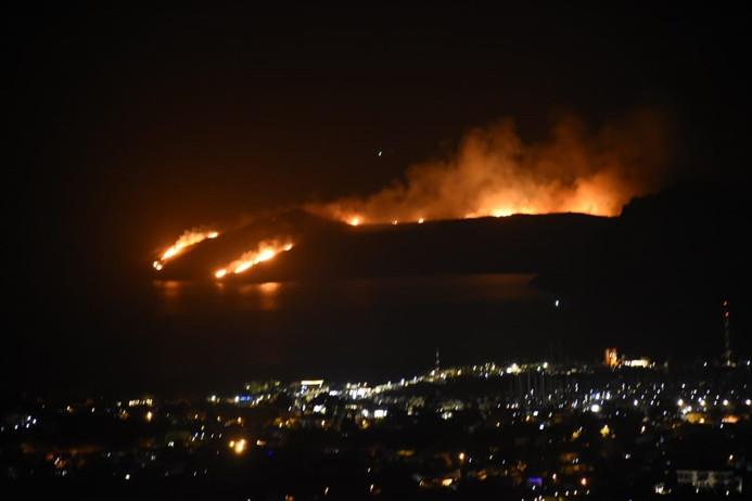 Bodrum'da makilik yangını
