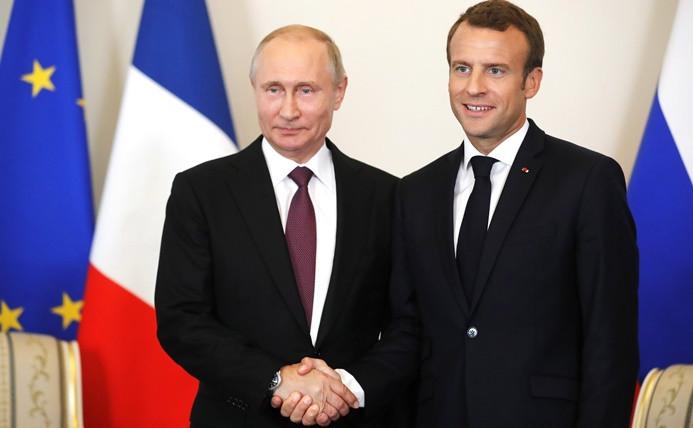 Putin ve Macron Suriye'yi görüştü