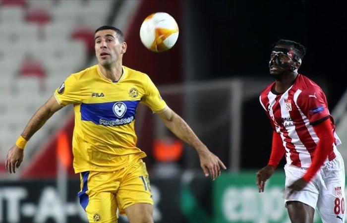 Demir Grup Sivasspor, UEFA Avrupa Ligi I Grubu 2. maçında yenildi