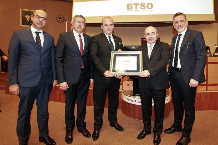 BTSO Merkez Bankası Başkanı Murat Uysal'ı ağırladı