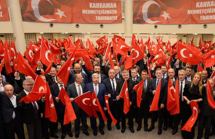 Bursa iş dünyasından Bahar Kalkanı Harekatı'na destek
