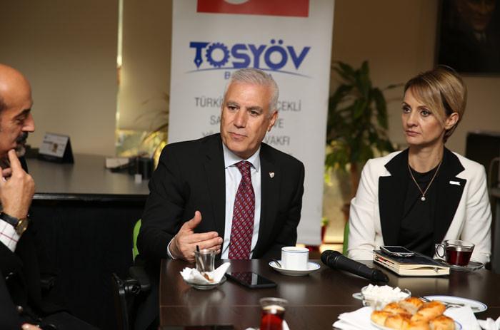 Bozbey, TOSYÖV'ü ziyaret etti