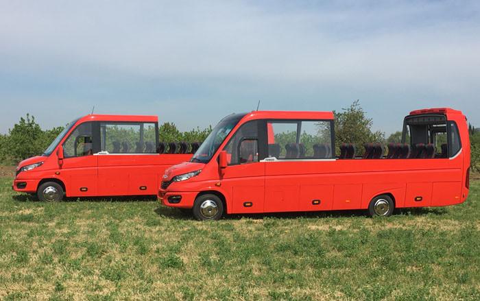 Bursa'da üretilen minibüs Las Vegas sokaklarında turlayacak