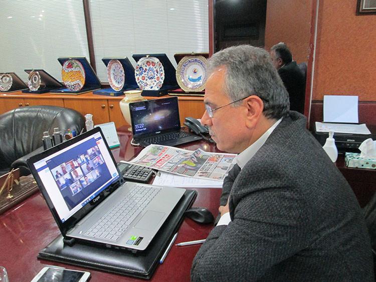 Bakan Pakdemirli, borsa başkanları ile telekonferans yöntemiyle buluştu